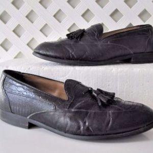 STACY ADAMS Mens Shoes 9.5 Loafers Snake Skin VTG